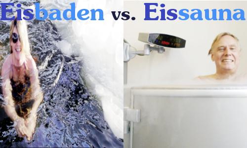 Eisbaden versus Eissauna